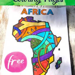 Continent Coloring Pages - Pool Noodles & Pixie Dust