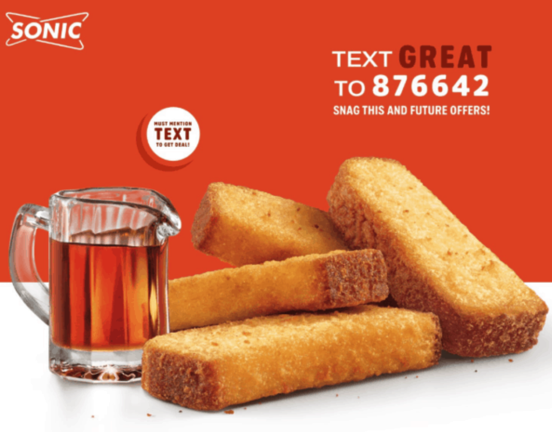 French Toast Sticks at Sonic