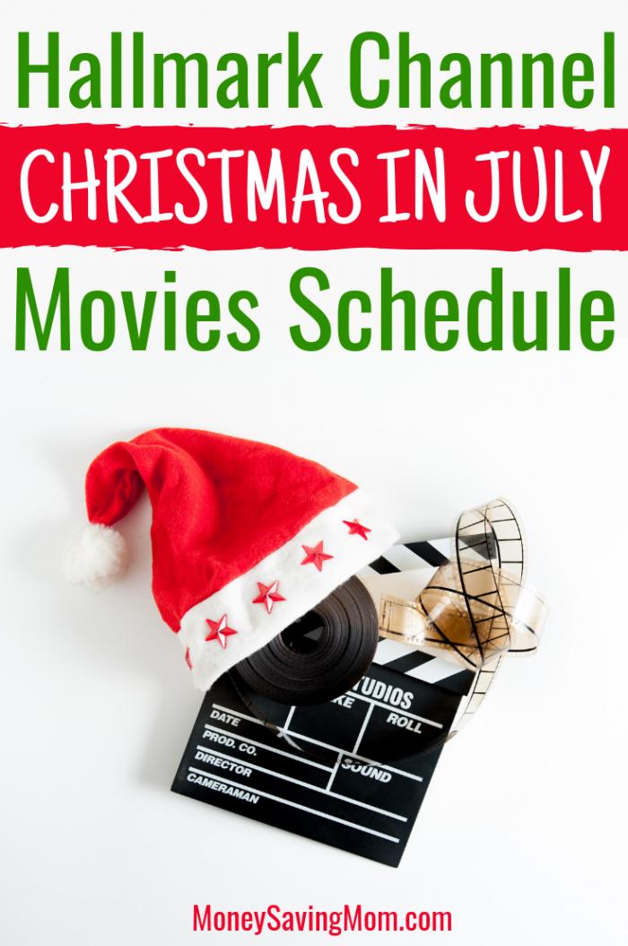 Hallmark Channel Christmas in July Movies Schedule
