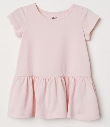 Flounced Cotton Dress