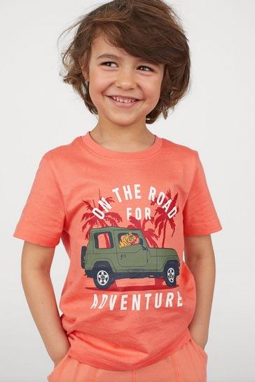 Baby, Toddler and Big Kid Boys' Printed Design T-Shirts