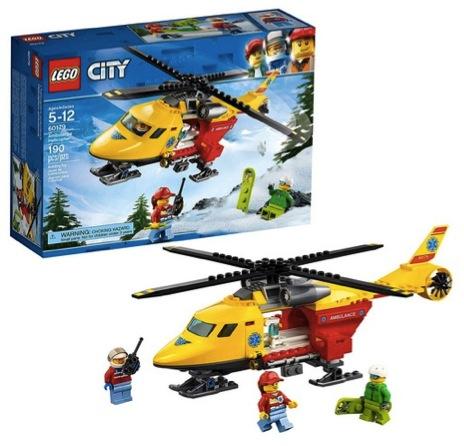LEGO City Ambulance Helicopter 60179 Building Kit (190 Piece)