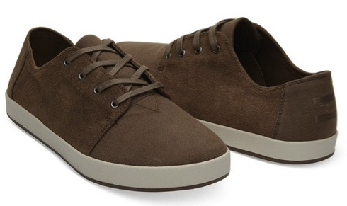 Bark Oiled Suede Cotton Twill Men's Payton Sneakers