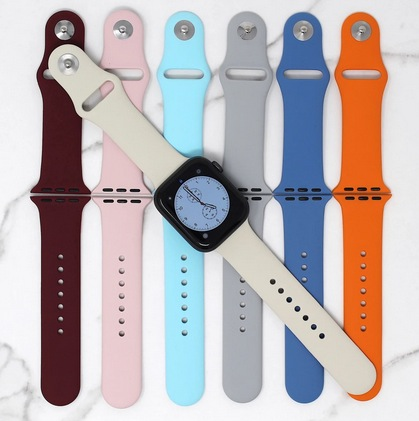 sporty silicone watch band.