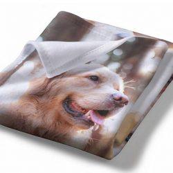Large Personalized Fleece Photo Blanket