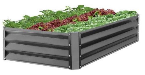 47x35.25x11in Outdoor Metal Raised Garden Bed