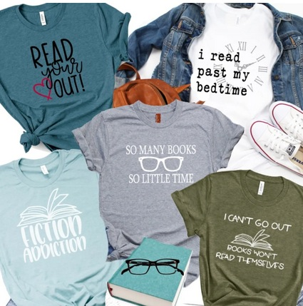 Book Addict Bella Graphic Tees