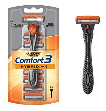 BIC Comfort 3 Hybrid Men's Razor