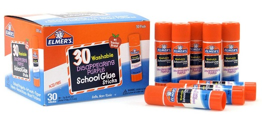 Elmers Disappearing Purple School Glue Washable 0.24-Ounce Sticks