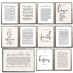 hymn and bible canvas prints