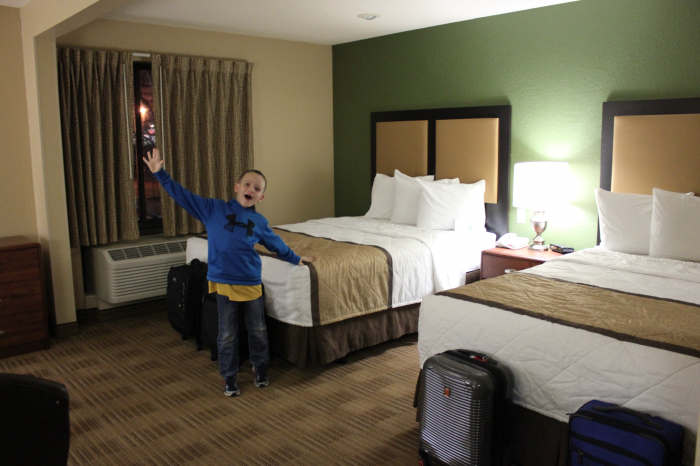 kid in a cheap hotel