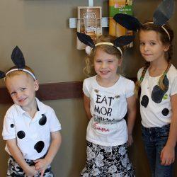 kids dressed like cows