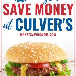 6 Ways to Save Money At Culver's