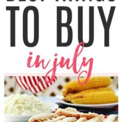 Best Things to Buy in July