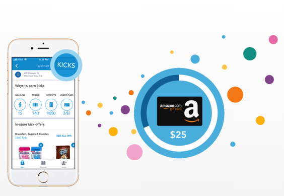 Earn Amazon Gift Cards with Shopkick
