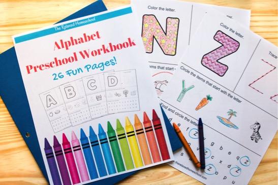 Free Alphabet Preschool Workbook