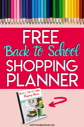Free Back to School Shopping Planner