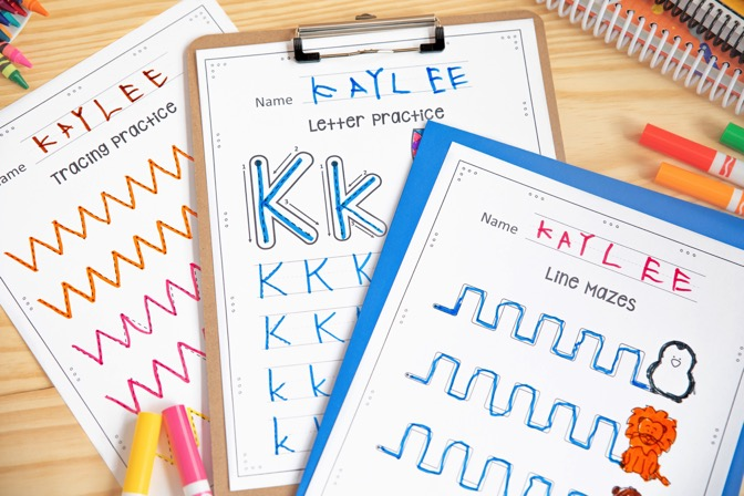 Free Handwriting Binder Pages