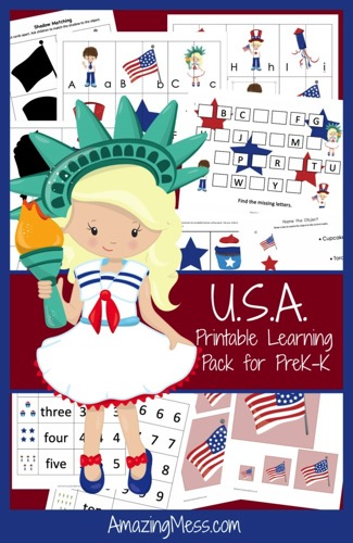 photograph about Give Me Five Poster Printable Free referred to as Absolutely free Patriotic Preschool Printable Pack - Dollars Conserving Mother