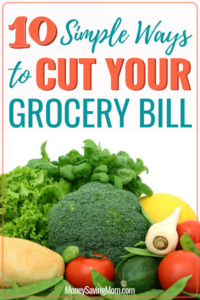 10 Simple Ways to Cut Your Grocery Bill