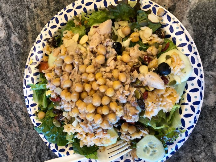 easy meals for 20 people: salad bar