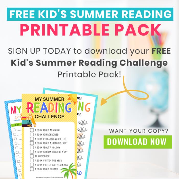 free kids summer challenge challenge printable pack