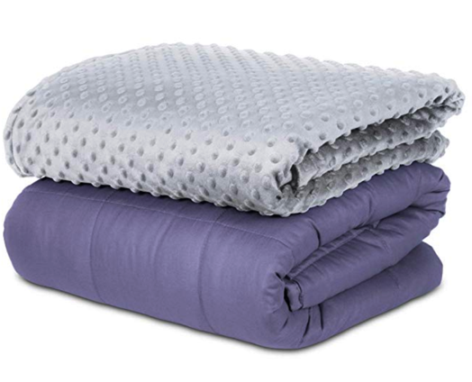 SAFR Home Therapy Weighted Blanket with Cover