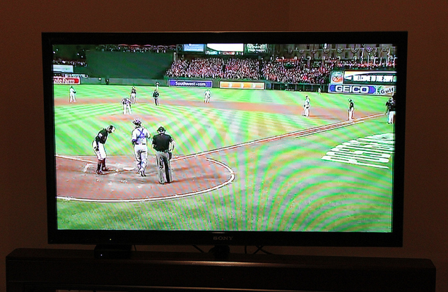 baseball game on television