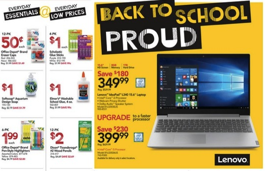 Office Max/Office Depot School Deals
