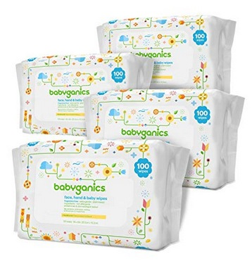 Babyganics Face, Hand & Baby Wipes, Fragrance Free, 800 ct