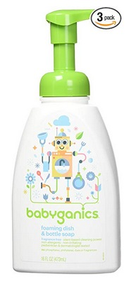 Babyganics Foaming Dish and Bottle Soap, Fragrance Free
