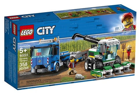 LEGO City Great Vehicles Harvester Transport 60223 Building Kit