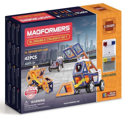 Magformers XL Double Cruiser (42 Piece) Set Magnetic Building Blocks