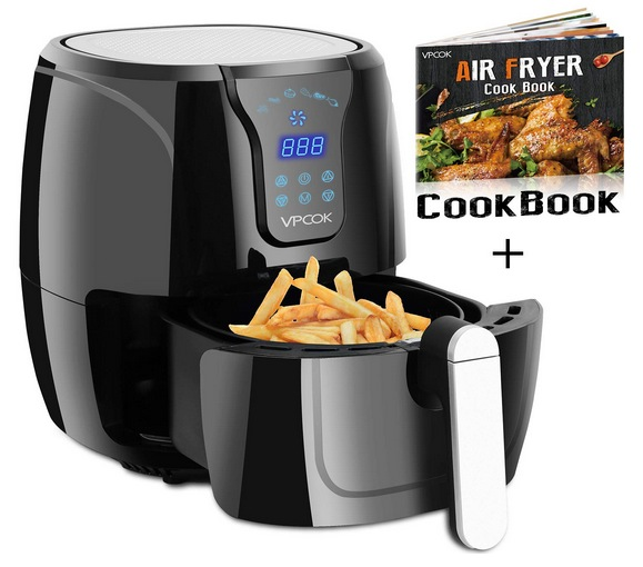 VPCOK Hot Air Fryer Without Oil w/ Air Fryers Cookbook
