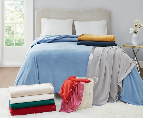 Martha Stewart Collection Soft Fleece Twin Blanket