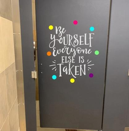 Bathroom Door Decals