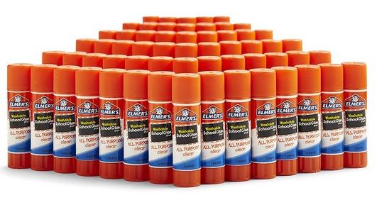 Elmer's All Purpose School Glue Sticks, Washable, 60 Pack