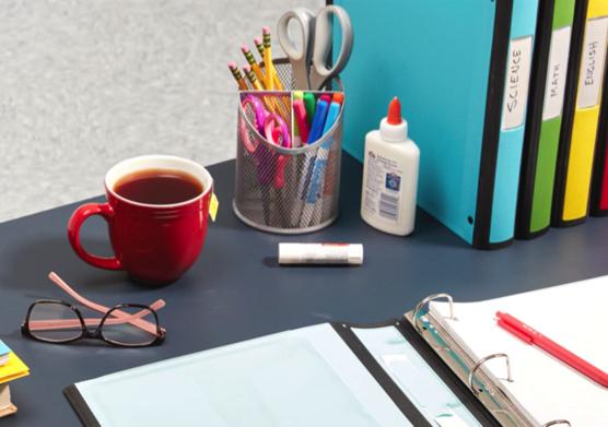 Staples School Supplies Desk