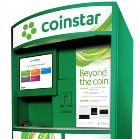 Trade in coins for gift cards at Coinstar