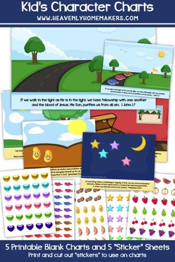 Free Printable Kid's Character Charts