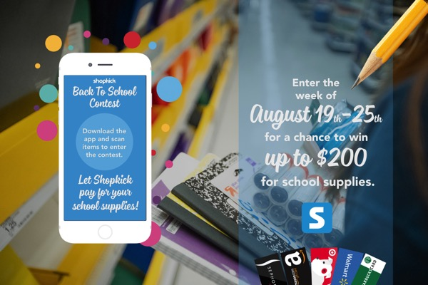 Shopkick Back to School Contest