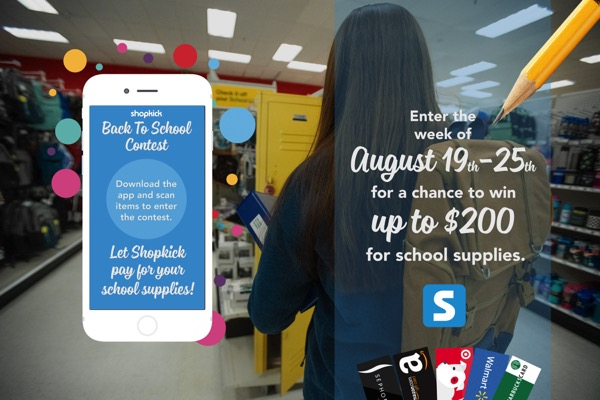 Shopkick Back to School Giveaway
