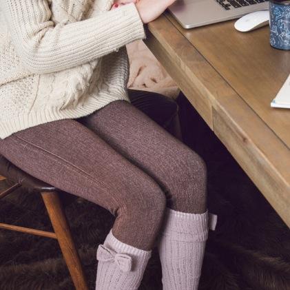 MUK LUKS ® Women's French Terry Faux Denim Legging