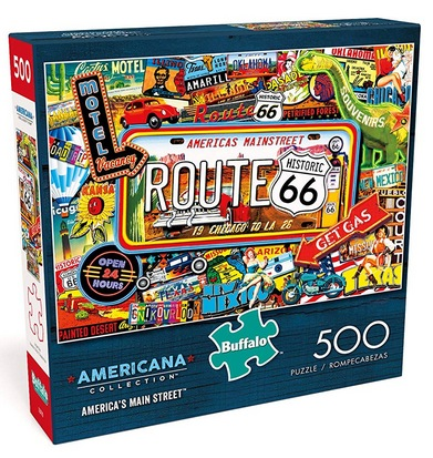 Buffalo Games America's Main Street 500-Piece Jigsaw Puzzles