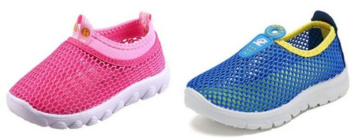 Kids Water Shoes Breathable Mesh Running Sneakers