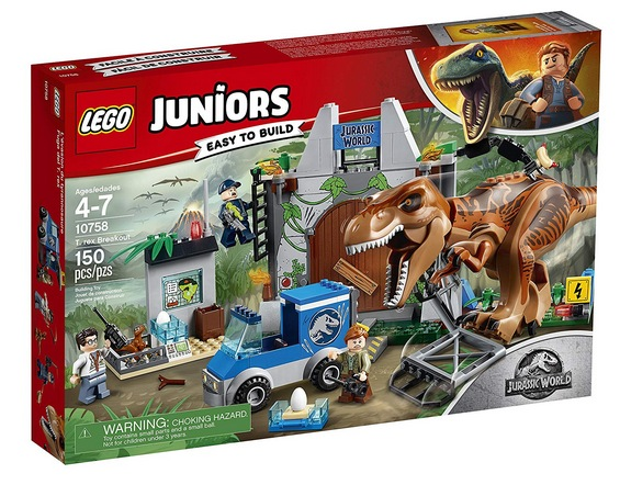 LEGO Juniors/4+ Jurassic World T. rex Breakout 10758 Building Kit