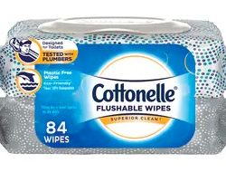 Cottonelle Flushable Wipes 84-Count Twin Packs