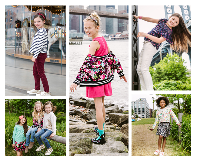 collage of kidpik models