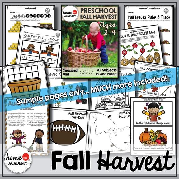 Fall Harvest Printable Pack