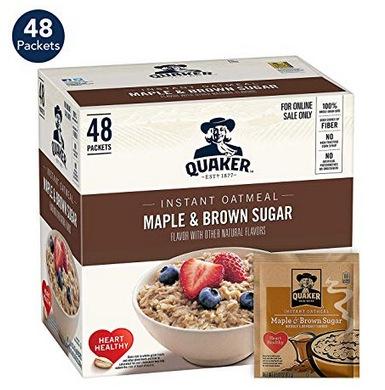 Quaker Instant Oatmeal, Maple & Brown Sugar